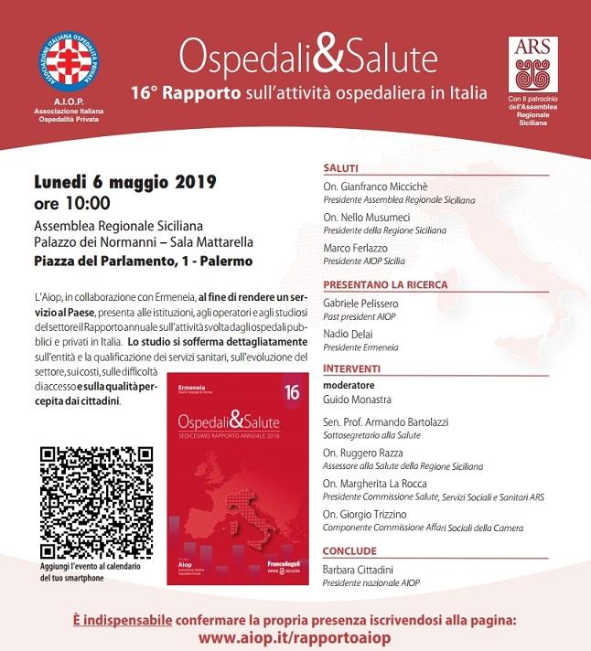 Presentazione 16° Rapporto Ospedali&Salute a Palermo